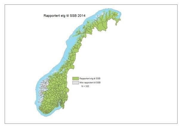 Rapportert elg 2014