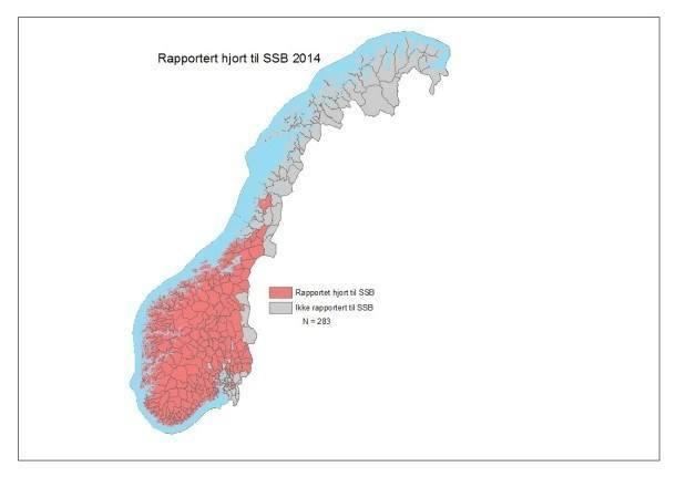 Rapportert hjort 2014