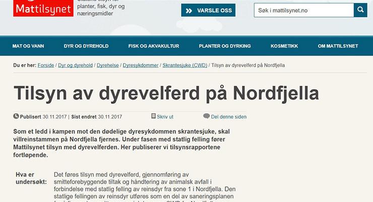 Les tilsynsrapporter fra Nordfjella